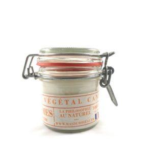 Bougie à la cire végétale (soja) parfumée aux agrumes
