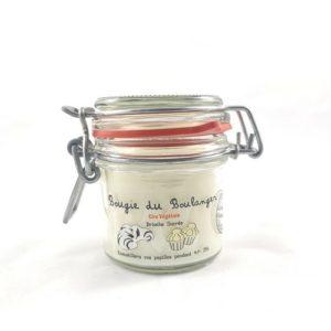 Bougie à la cire végétale (soja) parfumée à la brioche sucrée