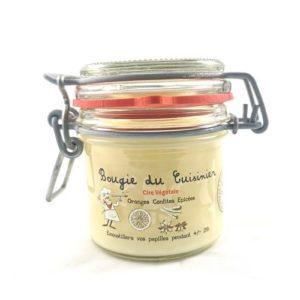 Bougie à la cire végétale (soja) parfumée aux oranges confites épicées