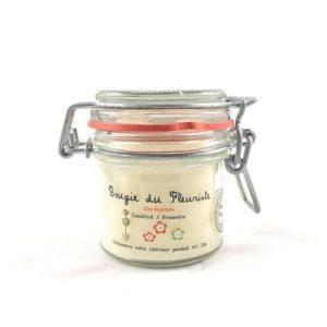 Bougie à la cire végétale (soja) parfumée au coquelicot et primevère