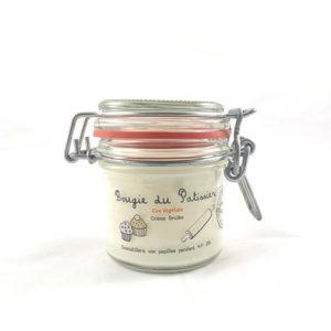 Bougie à la cire végétale (soja) parfumée à la crème brûlée