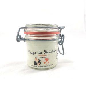 Bougie à la cire végétale (soja) parfumée au gingembre