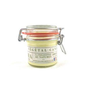 Bougie à la cire végétale (soja) parfumée au thé matcha