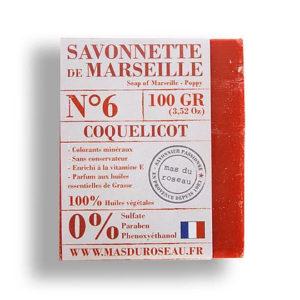 Savonnette de Marseille au coquelicot