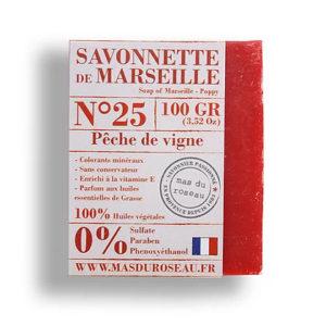 Savonnette de Marseille à la pêche de vigne