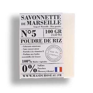 Savonnette de Marseille à la poudre de riz